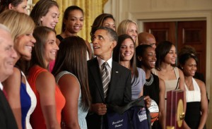 Obama Welcomes Women's NCAA Champion UConn Huskies To White House